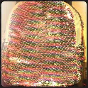 This is a color changing rainbow mini bag